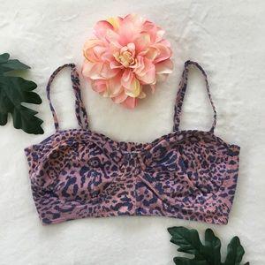 Billabong leopard print bralette